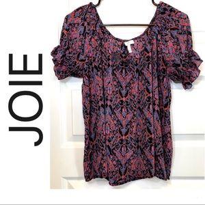 🌈100% Silk Off the Shoulder Short-sleeve Shirt